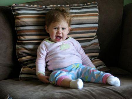 grumpy sick baby