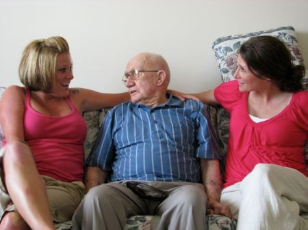 Bobbi and Missy with Grandad