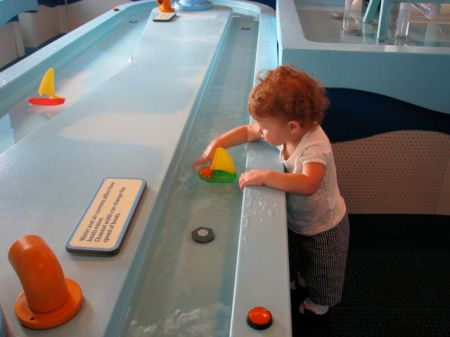 playing in the water room