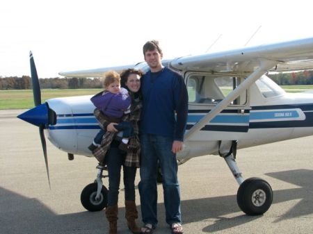 The family just before my inaugural flight with Pilot Squibb