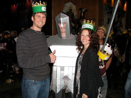 we were quite impressed by his cardboard/duct tape armor