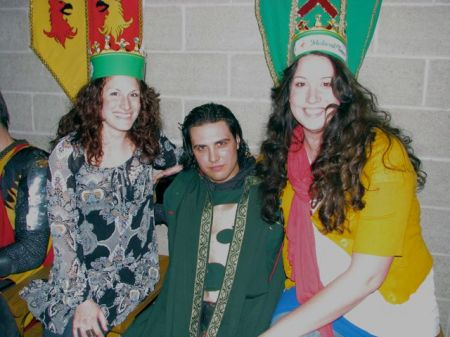 Casey and me with our green Knight after the show