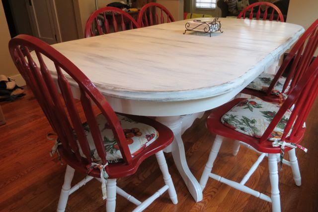 Kitchen Table Redo | The Squibb Family Blog